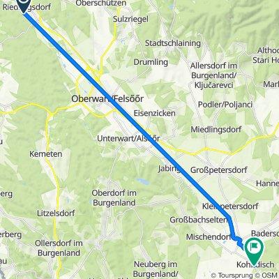 Fliedergasse 8, Riedlingsdorf nach Untere Hauptstraße 24, Kohfidisch
