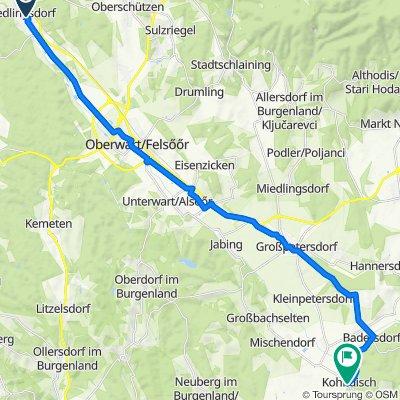 Obere Hauptstraße 4, Riedlingsdorf nach Schulgasse, Kohfidisch