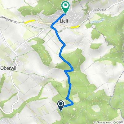 Route to Rohrmättliweg, Oberwil-Lieli