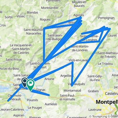 De A750, Saint-André-de-Sangonis à Rue Ernest Gaubert 19, Saint-André-de-Sangonis