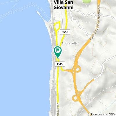 Da Via Nazionale Bolano 76, Villa San Giovanni a Via Nazionale Bolano 61, Villa San Giovanni