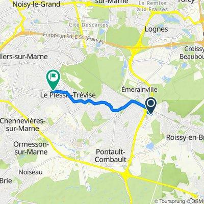 De 13ter Rue Denis Papin, Roissy-en-Brie à 1 Avenue Beauséjour, Le Plessis-Trévise