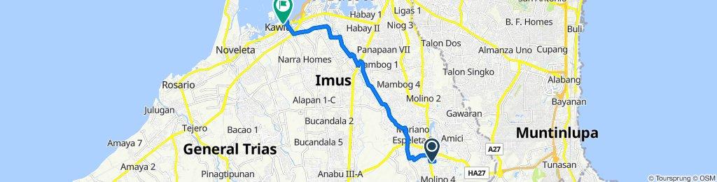 Route to Kawit Loop Road, Kawit