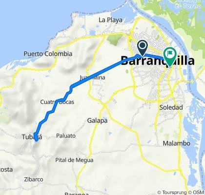 De Calle 81 38-45, Barranquilla a Calle 36 30-87, Barranquilla