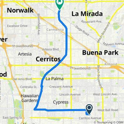 3362 W Thornton Ave, Anaheim to N Fork Coyote Creek Bp, Santa Fe Springs