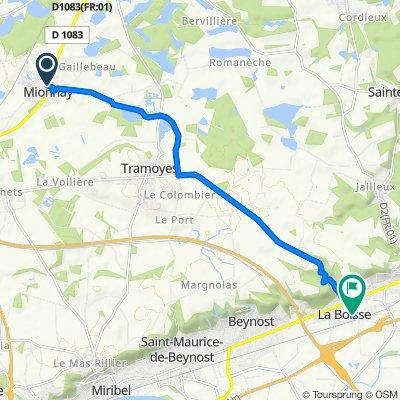 De 84–152 Route de Bourg-en-Bresse, Mionnay à 331–347 Rue Joseph Guinet, La Boisse