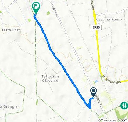 Da Via Molino Roero 139, Cuneo a Via Antica di Busca 122a, Roata Rossi