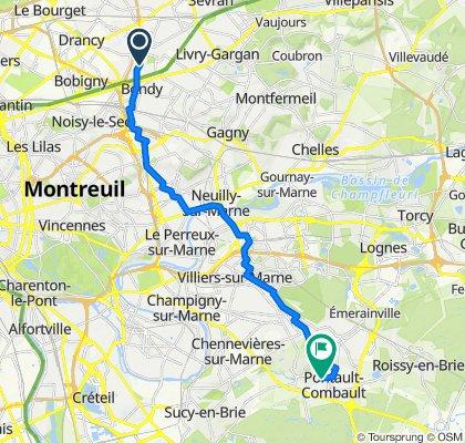 De Avenue Henri Varagnat 12, Bondy à Rue Marcel Paul 2, Pontault-Combault