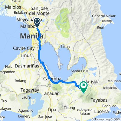 Route from 33 Road 4, Quezon City