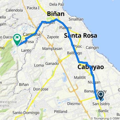 Unnamed Road, Cabuyao to Sugar Road, Carmona