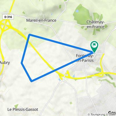 De 8 Rue Christine, Fontenay-en-Parisis à 9 Rue Christine, Fontenay-en-Parisis