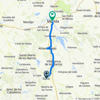 Camino de la plata Etapa 3.Zafra-Mérida