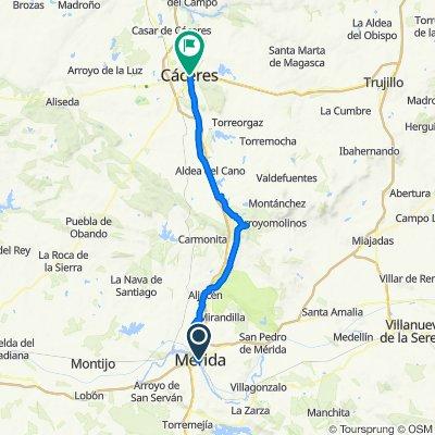 Camino de la Plata 4ª etapa: Mérida-Cáceres