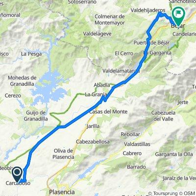 Camino de la Plata.6ª etapa: Carcaboso-Béjar