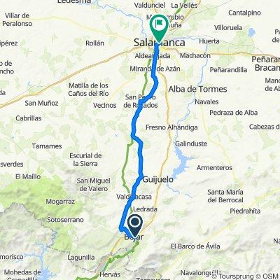 Camino de Santiago. 7ª etapa: Béjar-Salamanca