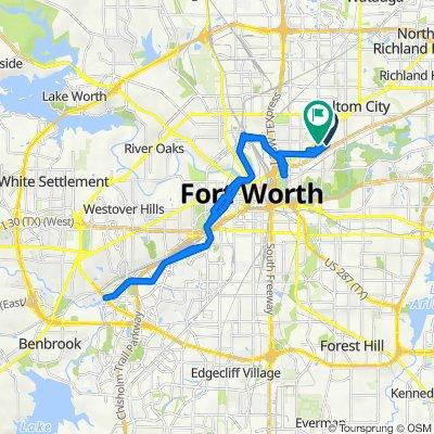 1211 Wayne St, Fort Worth to 1150 N Beach St, Fort Worth