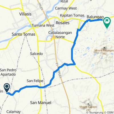Artacho-Sta. Monica Road, Bautista to Unnamed Road, Balungao