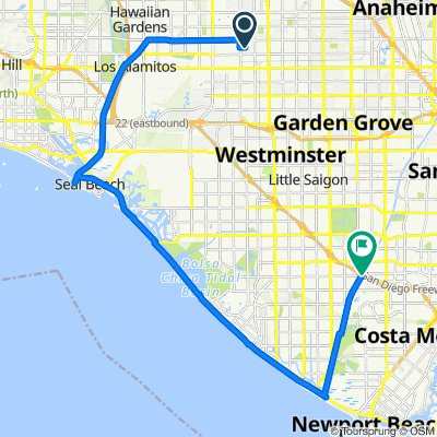 Route from 3362 W Thornton Ave, Anaheim