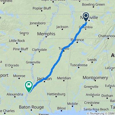Natchez Trace Parkway, Nashville to Natchez Trace Parkway