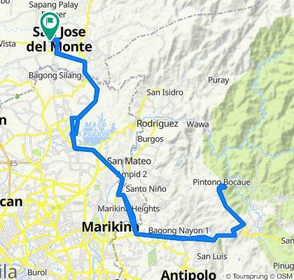 San Jose Del Monte City to Mount Sinai (vice versa)