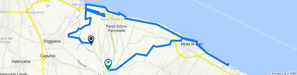 Percorso per Via Torre a Mare 6, Noicattaro