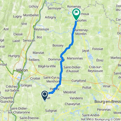 De 3618 Route de Châtillon, Saint-André-d'Huiriat à Petit Tour, Saint-Trivier-de-Courtes