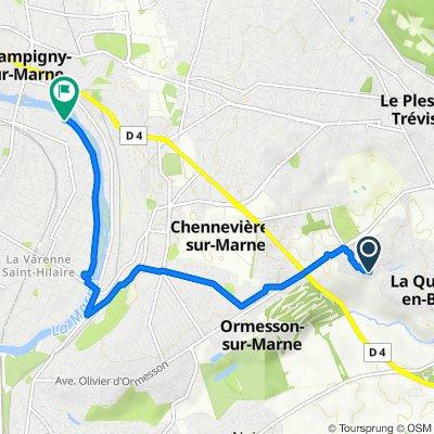 De 19 Allée du Gros Chêne, La Queue-en-Brie à 32 Rue Jean Mermoz, Saint-Maur-des-Fossés