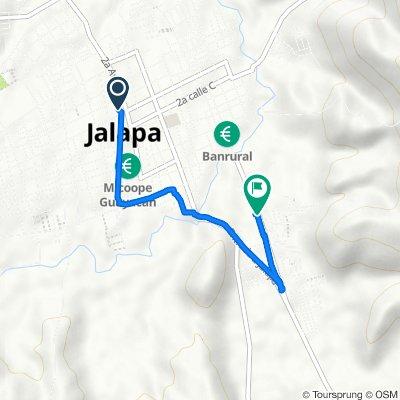 De Guatemala, Jalapa a Calzada Justo Rufino Barrios 552, Jalapa