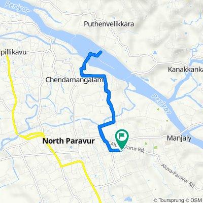 Temple Street Mannam to Aluva - Paravoor Road, Mannam