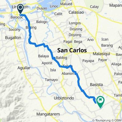 Quibaol - Nansangaan Road 30, Lingayen to Idong - Tanolong Brgy Road, Bayambang