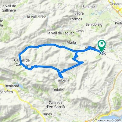 Route 30 : Xalo-Col Rates-Tarbena-Castell-Alcalali