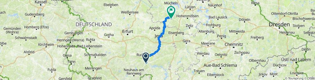 9. Tag ~ Saalfeld - Naumburg