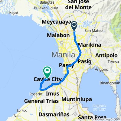 Don Julio Gregorio Road 3, Quezon City to Judge Ibanez, Cavite City