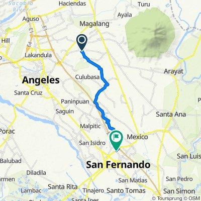 Route to Gapan-San Fernando-Olongapo Road, San Fernando City