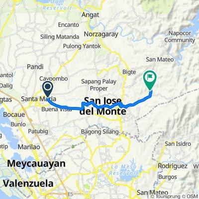 Macaiban Road, Santa Maria to Unnamed Road, San Jose del Monte City