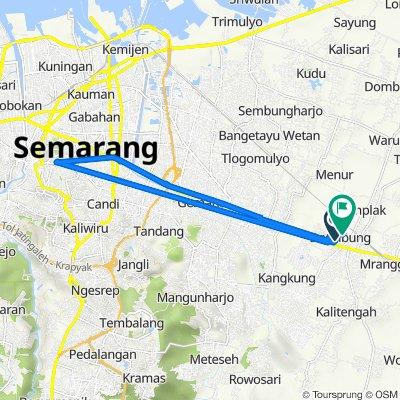Jalan Semarang - Purwodadi 245, Kecamatan Mranggen to Jalan Bandung Utara, Kecamatan Mranggen