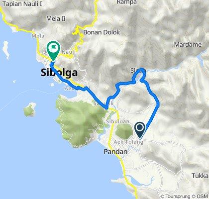 Jalan ST Z Tampubolon 9, Pandan to Jalan Doktor F.L.Tobing 30, Sibolga Utara