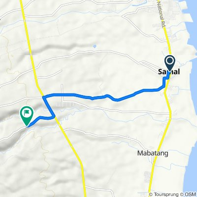 Route from Samal
