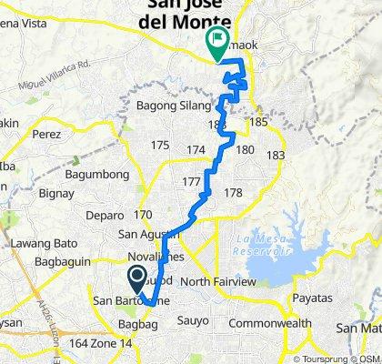 ACF Road 190, Quezon City to Governor Fortunato Halili Road, San Jose del Monte City