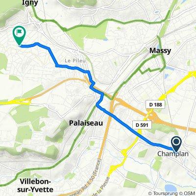 De 15 Rue de Longjumeau, Champlan à 38 Rue Jules Ferry, Igny