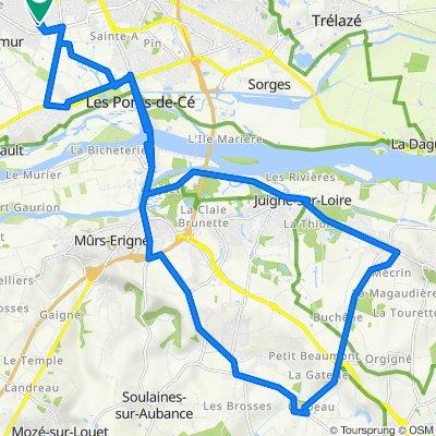 De Square Dumont d'Urville, Angers à Avenue Jean XXIII, Angers