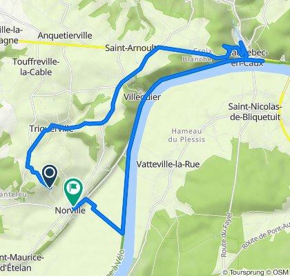De Route de la Côte, Norville à 7A Rue du Haut des Cours, Norville