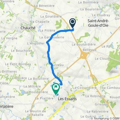 Itinéraire vers 14 Rue du Cormier, Les Essarts