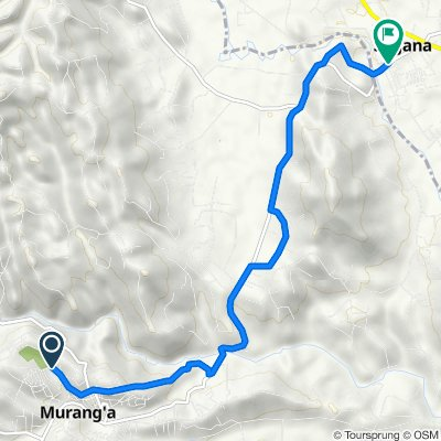 Muranga, Murang'a to C71, Sagana