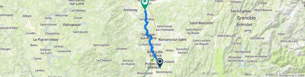 Beaumont-lès-Valence to Rue Déserte 18, Andance