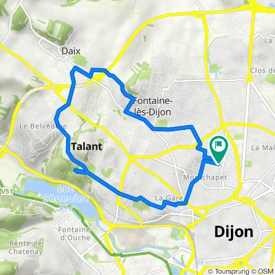 De Rue de Châtillon 15, Dijon à Rue de Châtillon 14, Dijon