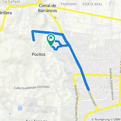 De Calle Invernadero 103, Aguascalientes a Calle Invernadero 103, Aguascalientes
