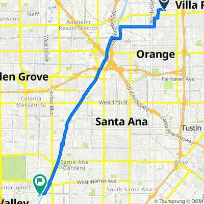 941 E Trenton Ave, Orange to 17520 Newhope St, Fountain Valley