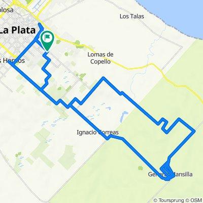 A Bavio ida y vuelta con vueltas por el camino de la llama y vueltas en La Plata