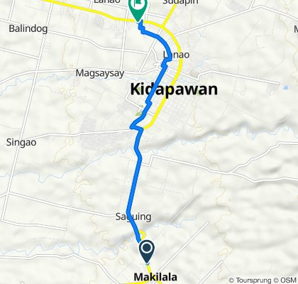 Davao - Cotabato Road, Makilala to Davao - Cotabato Road, Kidapawan City